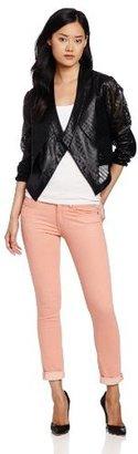 BCBGMAXAZRIA Women's Luke Perforated Cropped Jacket