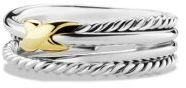 David Yurman X Crossover Ring with Gold $295 thestylecure.com