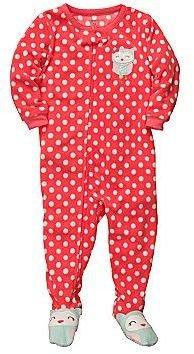 Carter's Owl Fleece Footed Pajamas - Girls 12m-24m