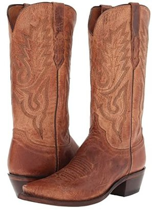 Lucchese M1008.54 (Tan Mad Dog Goat) Cowboy Boots