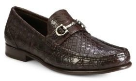 Salvatore Ferragamo Giostra Croc Loafers