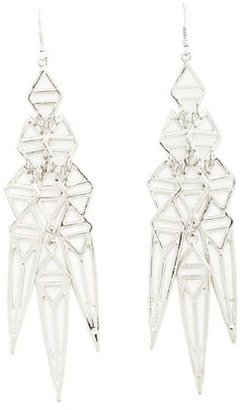 Charlotte Russe Geo Triangle Dangle Earrings