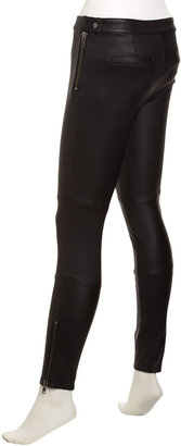 Rachel Zoe Maxine Skinny Leather Pants, Black