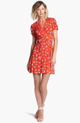 Juicy Couture 'Feather Iris' Silk Wrap Dress