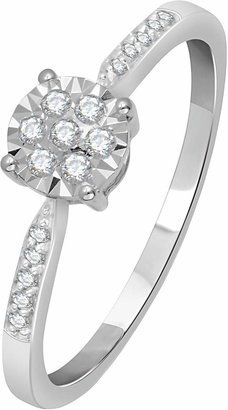 Love DIAMOND 9 Carat White Gold 15pt Illusion Set Solitaire Ring