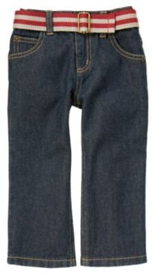 Crazy 8 Stripe Belted Straight Jean