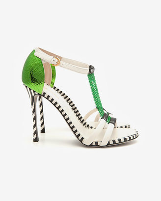 Sergio Rossi Chainmail Strap Leather Sandal