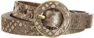 Nine West Women's 5/8 Inch Metallic Snake Panel Belt