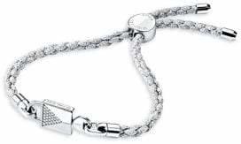 Michael Kors Custom Kors Sterling Silver Cord Bracelet