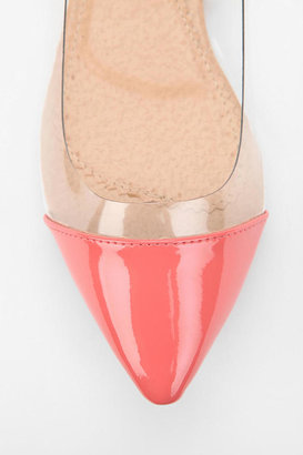 Urban Outfitters Deena & Ozzy Clear Panel Pointy-Toe Skimmer