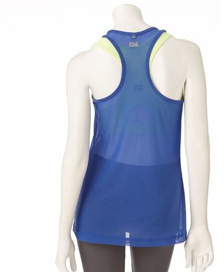 Fila sport ® illusion mesh racerback performance tank - women's