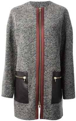 Etro bouclé knit coat