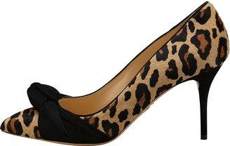 Charlotte Olympia Vera Leopard-Print Calf Hair Pump