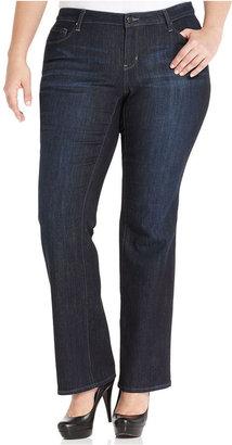 DKNY Plus Size Mercer Slim Bootcut Jeans, Idol Wash