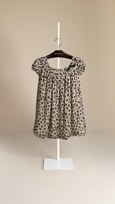 Burberry Animal Print Silk Dress
