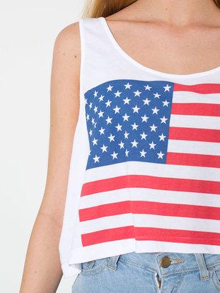 American Apparel Printed Mid-Length Tank - US Flag