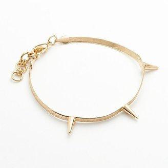 Lauren Conrad gold tone spike bracelet
