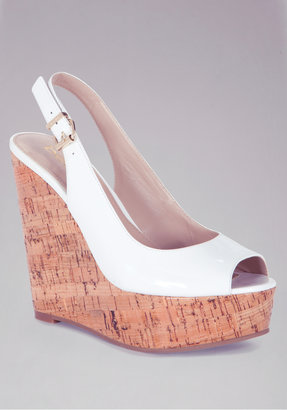 Bebe Mallory Leather & Cork Wedges