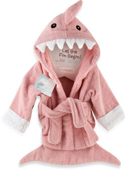 Bed Bath & Beyond Baby Apsen Let the Fin Begin Shark Robe - Pink