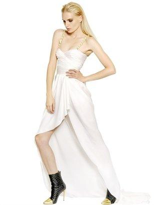 Balmain Silk Satin Chained Long Dress