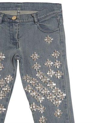 Roberto Cavalli Rhinestones Slim Fit Jeans