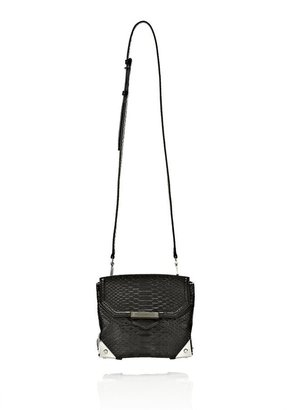 Alexander Wang Marion In Embossed Python With Rhodium