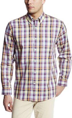 Cutter & Buck Men's Big-Tall Long Sleeve Richey View Plaid Shirt