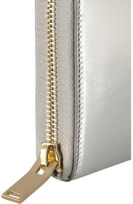 Saint Laurent Metallic leather continental wallet