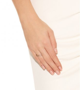 Jacquie Aiche Triple Row 14kt rose-gold eternity ring with white diamonds