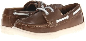 Cole Haan Air Sail Boat (Toddler/Youth) (Brown Leather) - Footwear