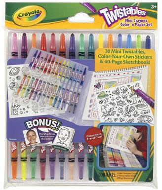 Crayola twistables mini crayons color 'n paper set