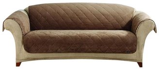 Sure Fit Sherpa/Soft Suede Sofa Throw-Cocoa/Cream