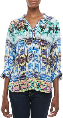 Milly Katalina Printed Flowy Blouse
