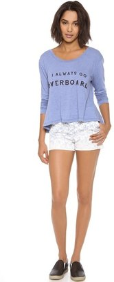 Wildfox Couture Off the Deep End Long Sleeve Top