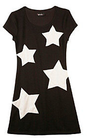 Amy Byer Girls' 7-16 Black And White Star Knit Dress