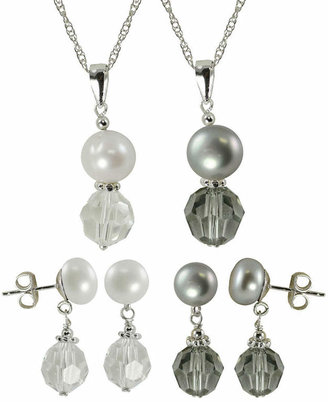 FINE JEWELRY Cultured Freshwater Pearl & Crystal 4-pc. Set
