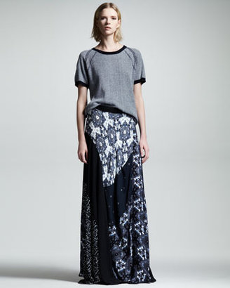 A.L.C. Brixton Printed Silk Maxi Skirt