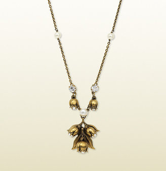 Gucci Necklace With Blossom Pendant