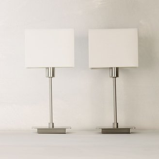ANYDAY John Lewis & Partners Ruby Table Lamps, Nickel, Set of 2