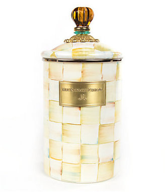 Mackenzie Childs MacKenzie-Childs Parchment Check Canister