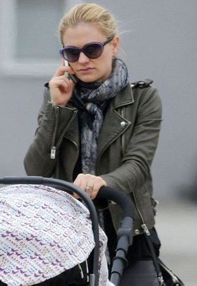IRO Ashville Cropped Leather Jacket as seen on Anna Paquin -