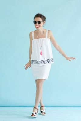 Anthropologie WHIT Embroidered Urchin Petite Dress