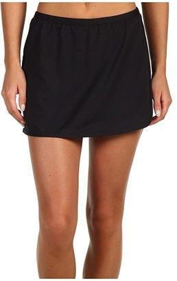 TYR Solid Swim Skort (Black) Women's Swimwear