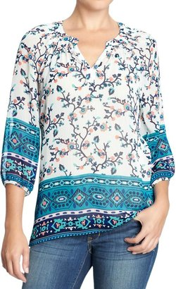 Old Navy Women's Printed Chiffon Blouses