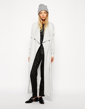 Asos Longline Cardigan With Cashmere