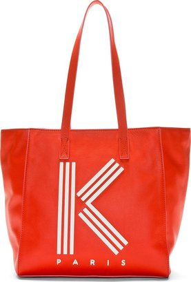 Kenzo Red & Pink K Tote