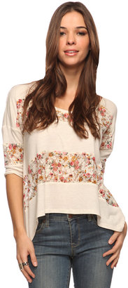 Forever 21 Lace Stripe Trapeze Top