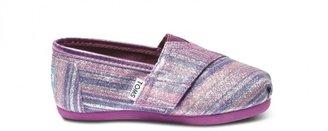 Toms Purple stripe tiny glitters