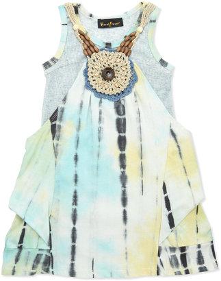 Hannah Banana Tie-Dye Pintuck Dress, 4-6X