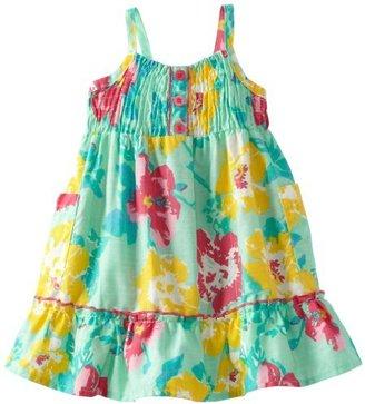 Little Lass Baby-Girls Newborn 1 Piece Woven Dress With Stripes